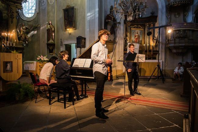 2016   Laureáti soutěže Concertino Praga, Filip Zaykov, Adam Riethof, Martin Chudada